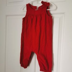 Baby Gap Curdory red Jumpsuit 3-6 m